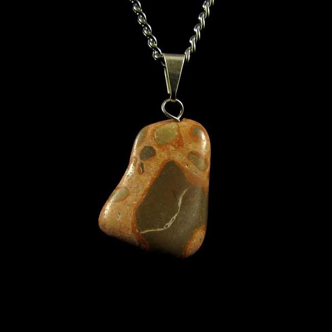 Pingente Jaspe Leopardita Pedra Natural - 6005