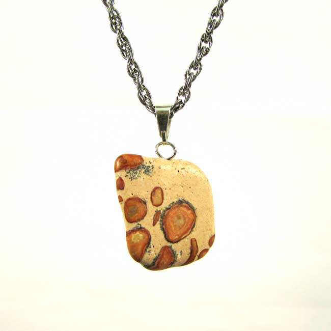 Pingente Jaspe Leopardita Pedra Natural - 6749
