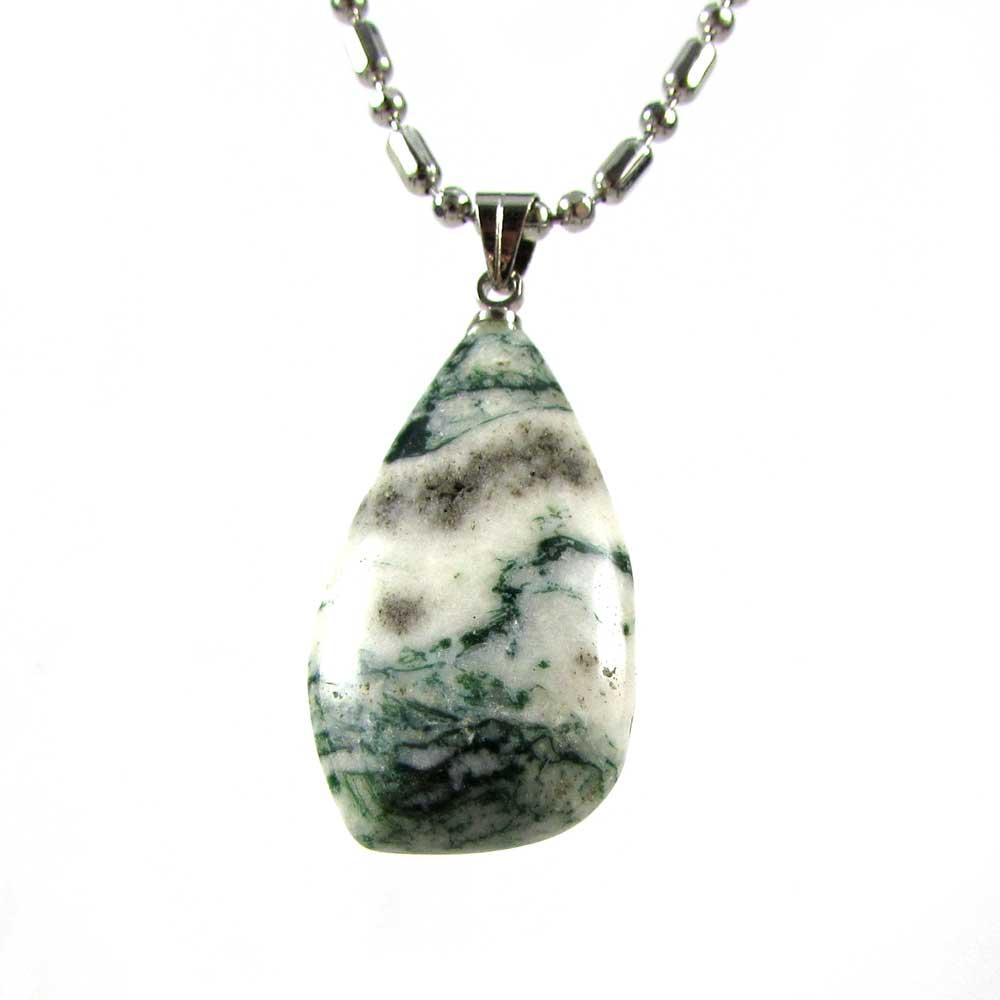 Pingente Pedra Natural Ágata Musgo