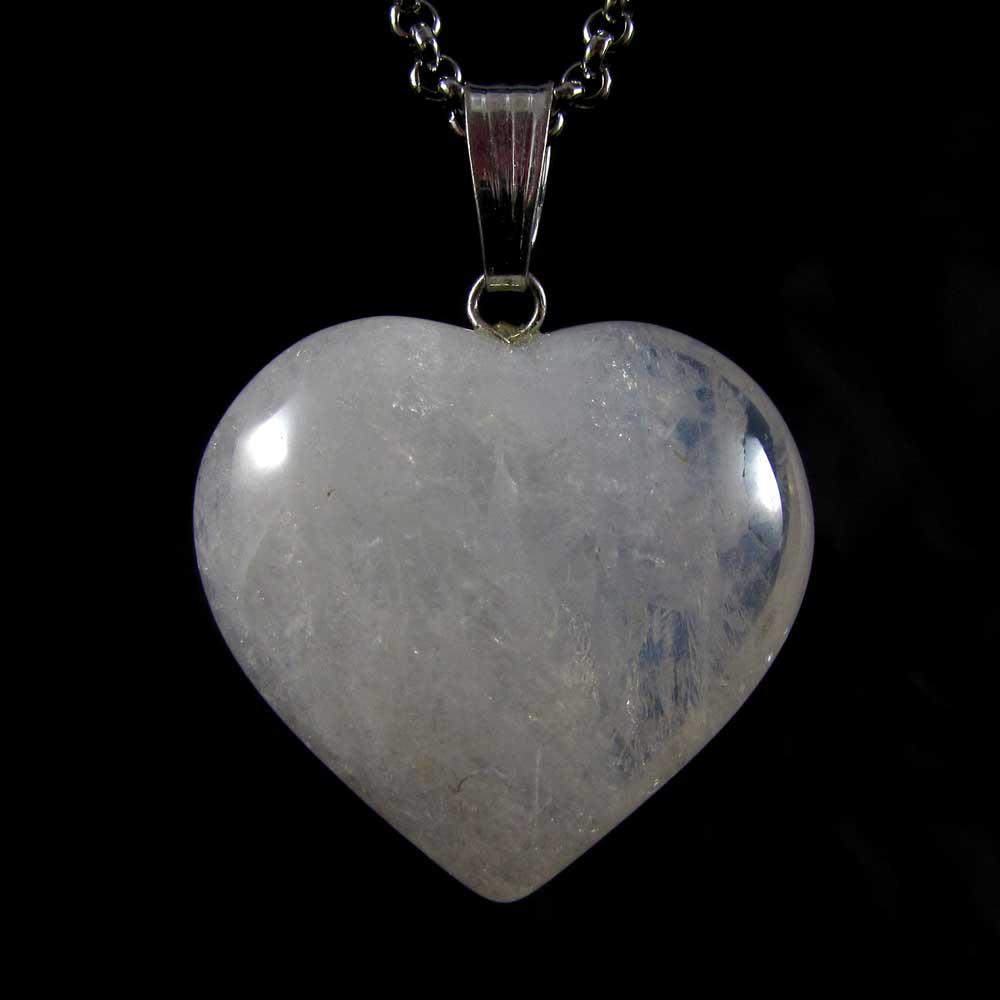 Pingente Pedra Natural Água Marinha - Coração G