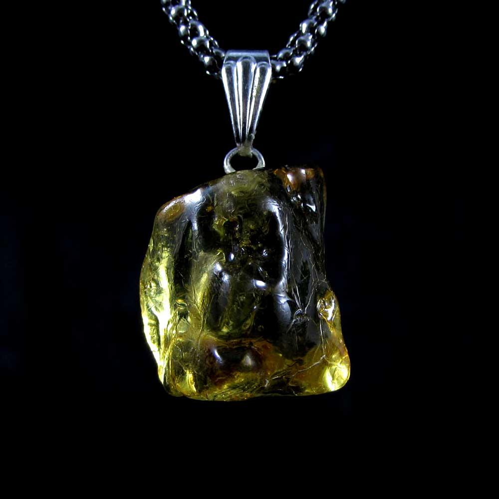 Pingente Pedra Natural Âmbar