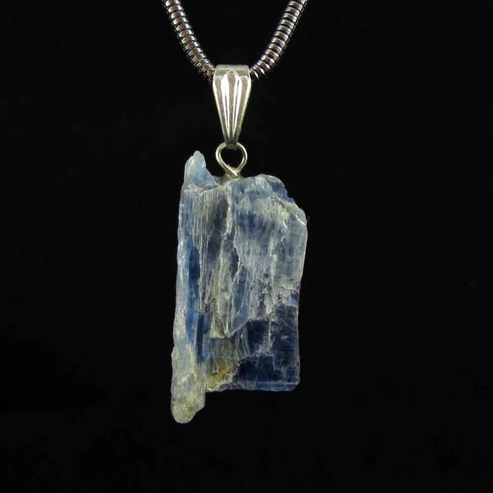 Pingente Pedra Natural Cianita Azul -Pedra 2019
