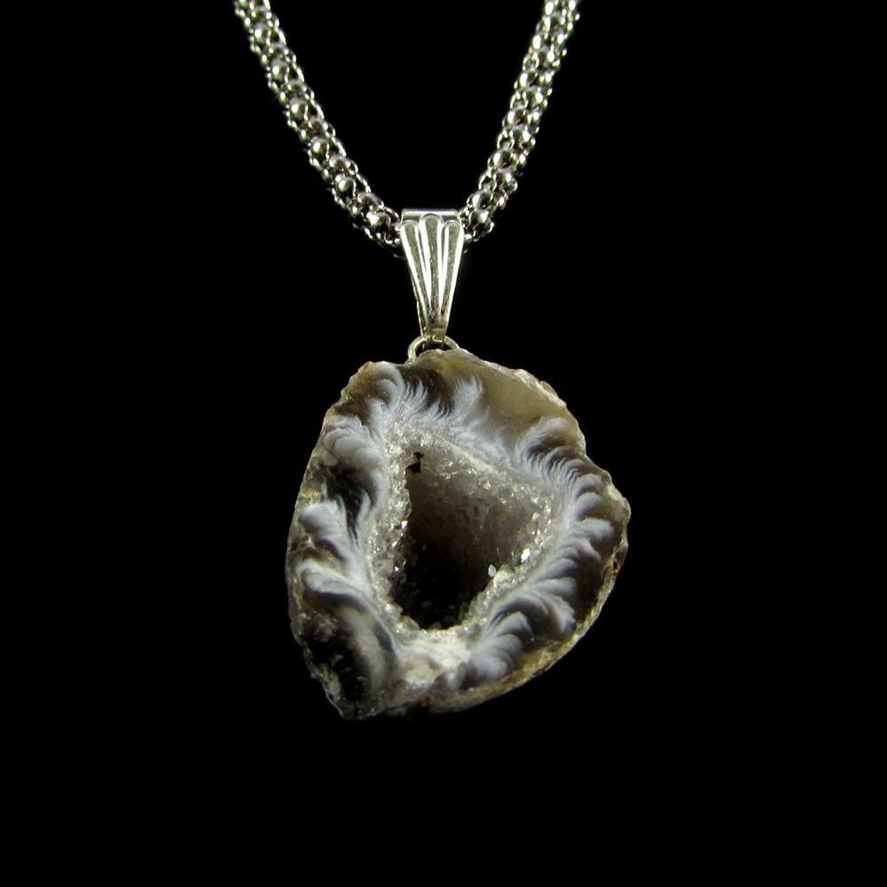 Pingente Pedra Natural Concha de Ágata