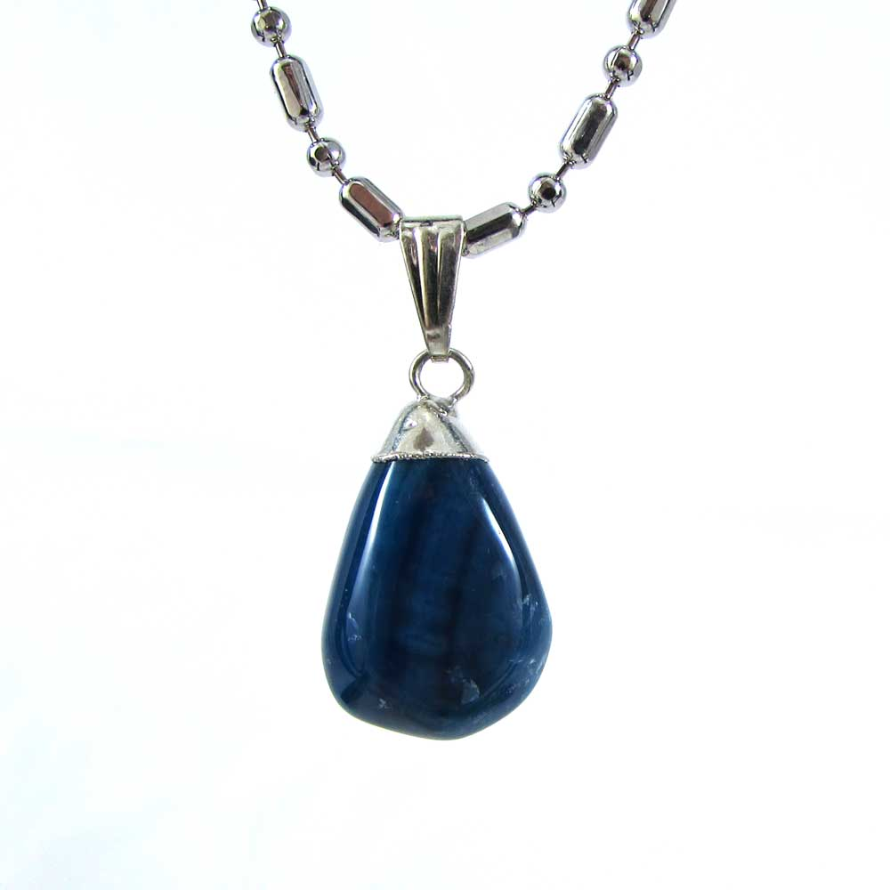 Pingente Pedra Natural  de Ágata Azul