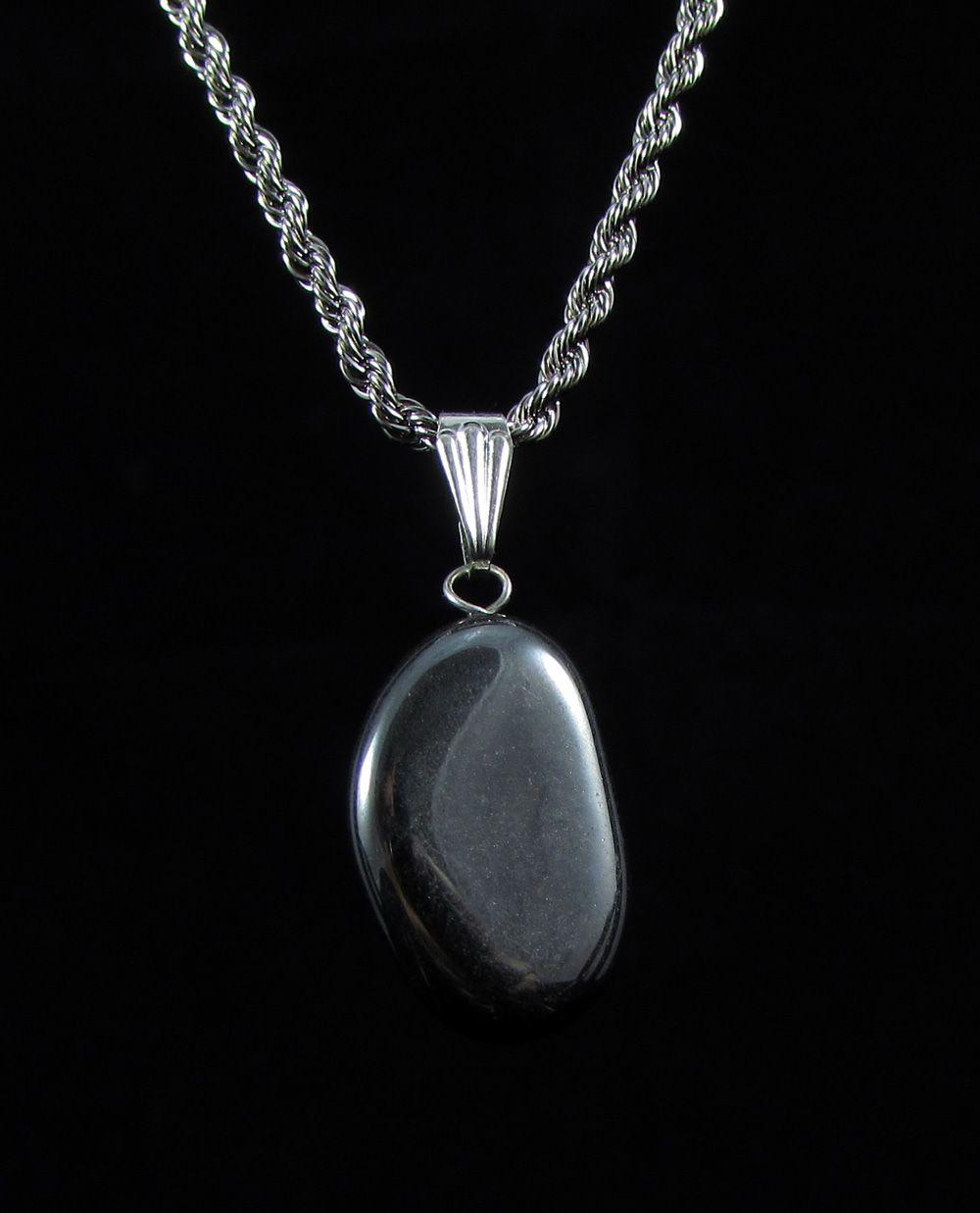 Pingente Pedra Natural Hematita