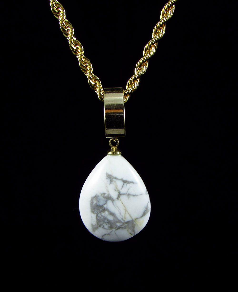 Pingente Pedra Natural Howlita