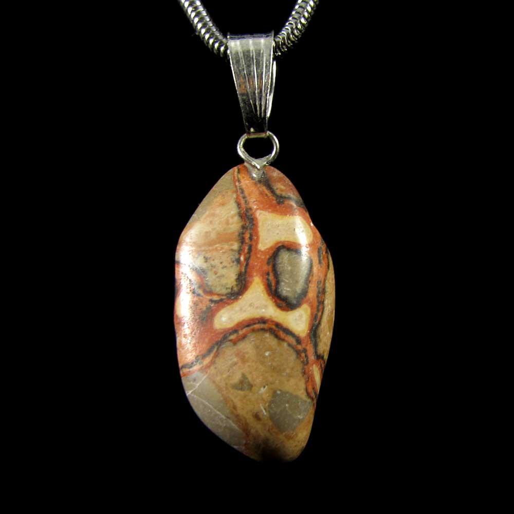 Pingente  Pedra Natural Jaspe Leopardita
