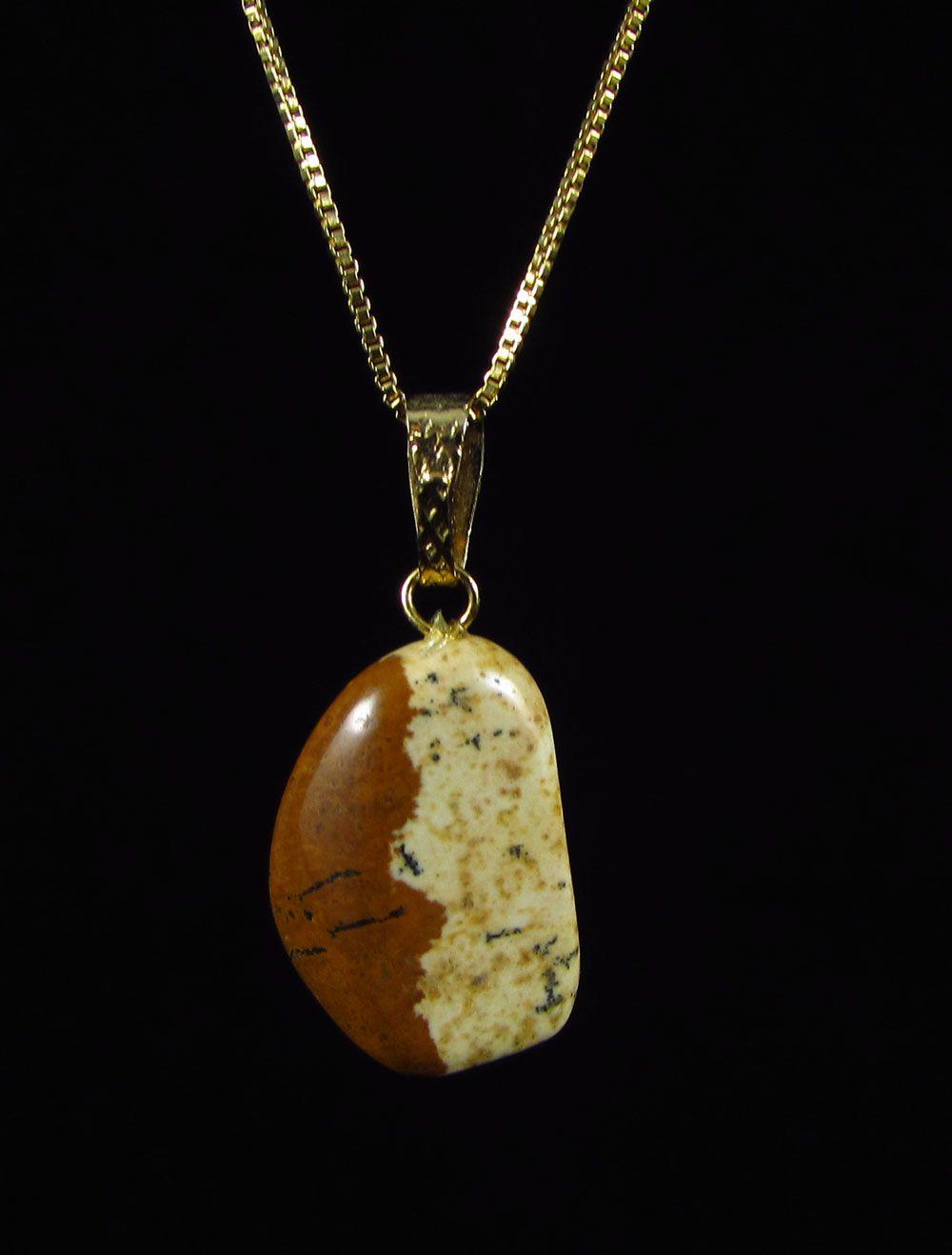 Pingente Pedra Natural Jaspe Picture