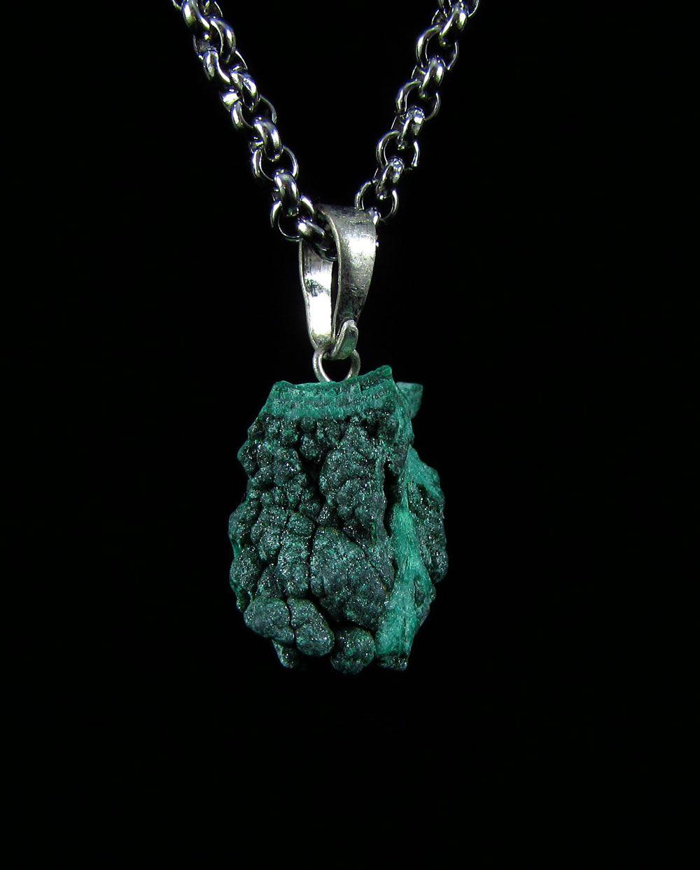 Pingente Pedra Natural Malaquita Bruta