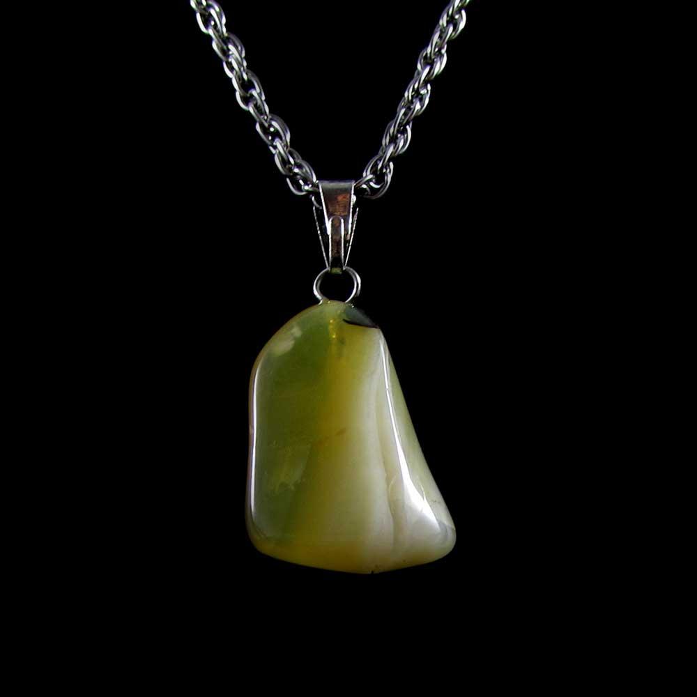 Pingente Pedra Natural Opala Amarela