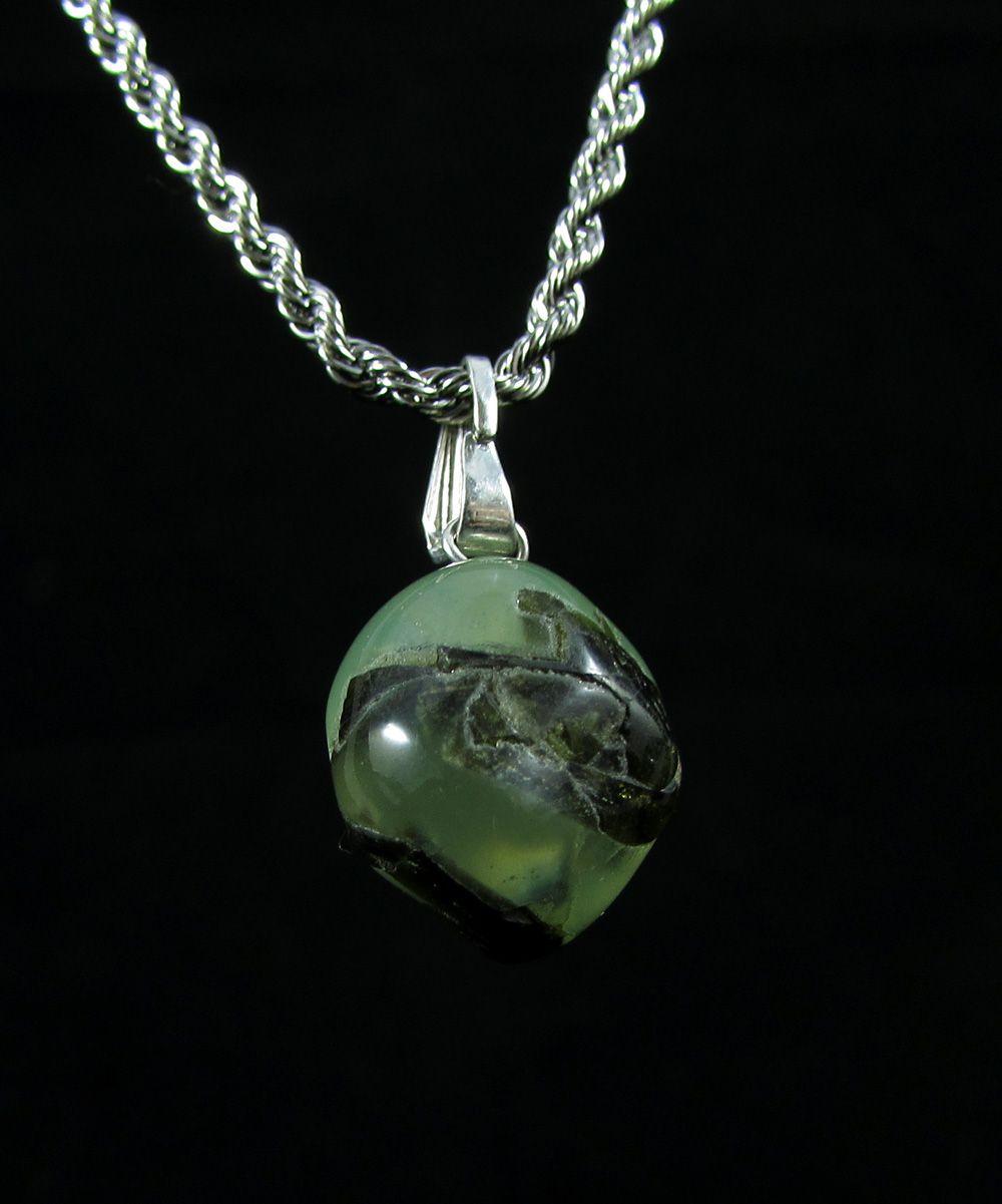 Pingente Pedra Natural Prehnita