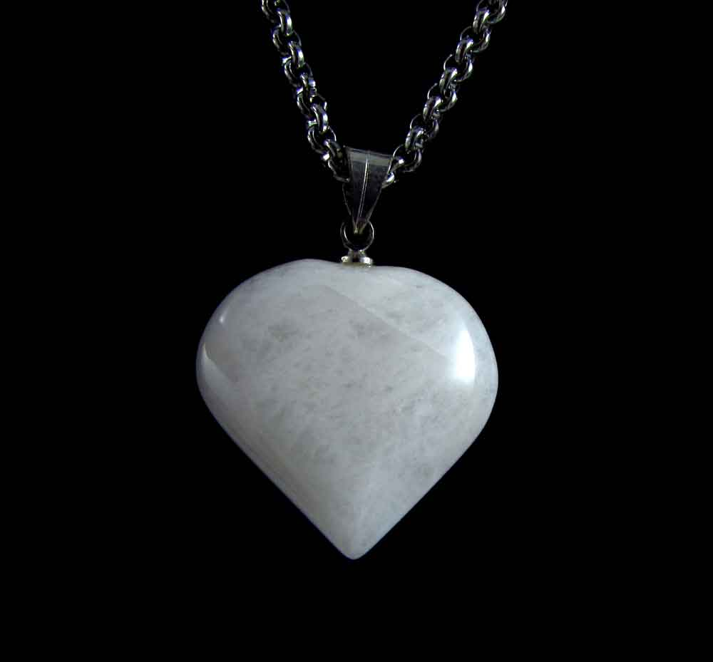 Pingente Pedra Natural Quartzo Branco - Coração