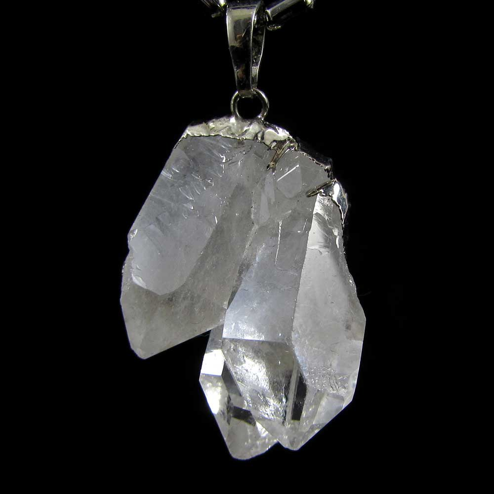 Pingente Pedra Natural  Quartzo Cristal em Drusa