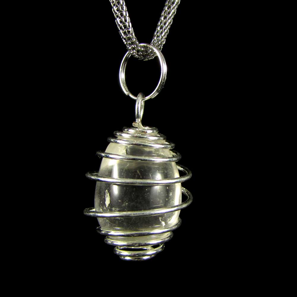 Pingente Pedra Natural Quartzo Cristal Oval (2373)