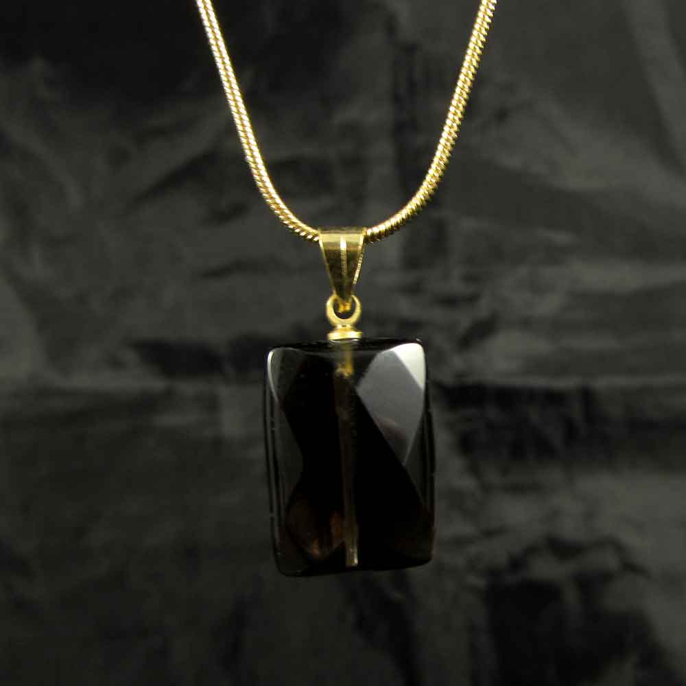 Pingente Pedra Natural Quartzo Fumê - 3771