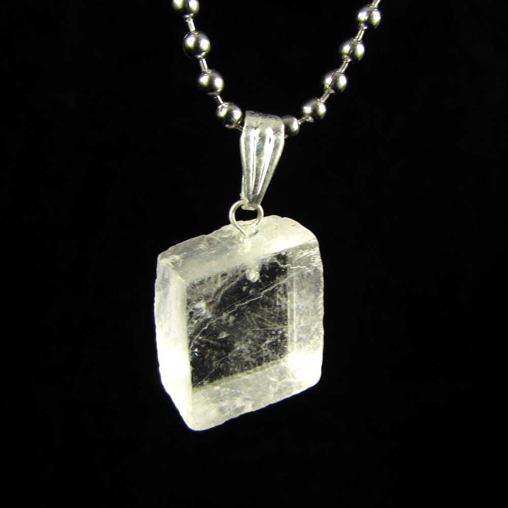 Pingente Pedra Natural Quartzo Óptico