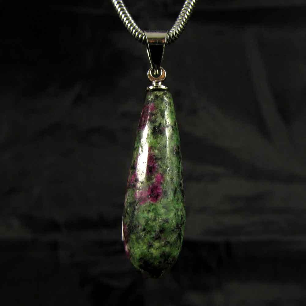 Pingente Pedra Natural Rubi Zoisite - 5049