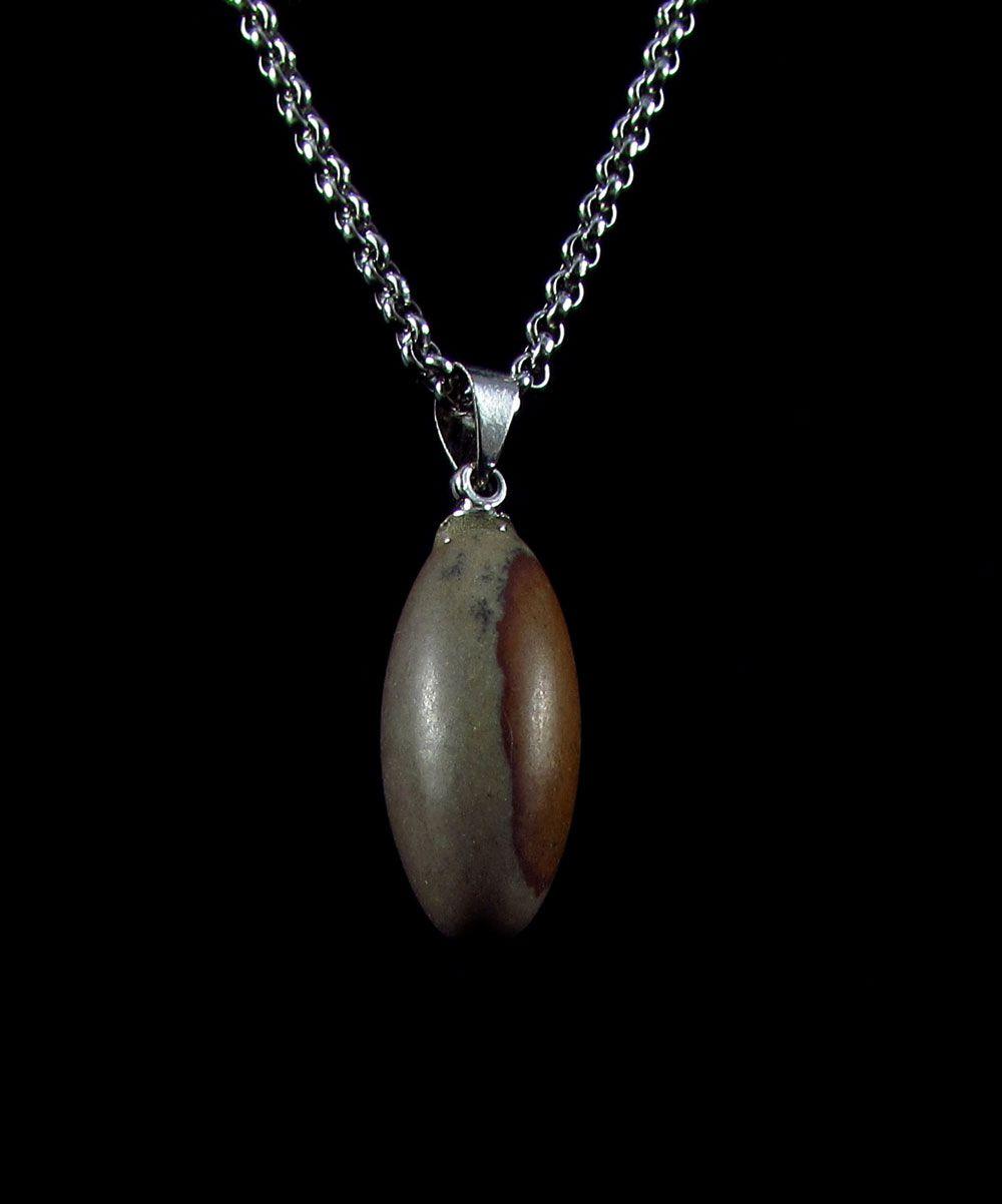 Pingente Pedra Natural Lingam Shiva