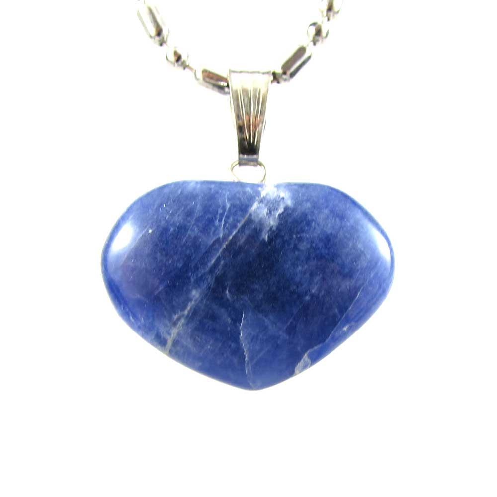 Pingente Pedra Natural Sodalita - Coração M
