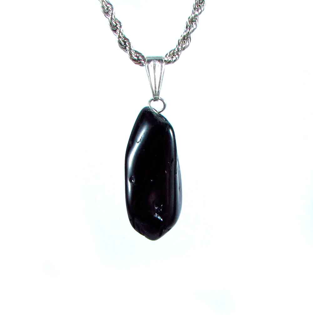 Pingente Pedra Natural  Turmalina Negra
