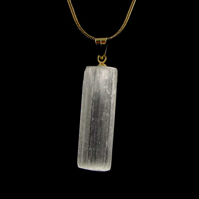 Pingente Selenita Pedra Natural - 6829