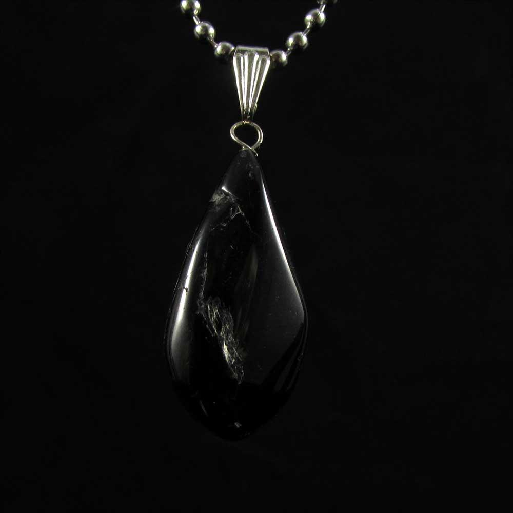 Pingente Turmalina Negra Pedra Natural
