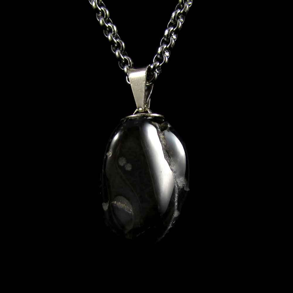 Pingente Turmalina Negra Pedra Natural 2647