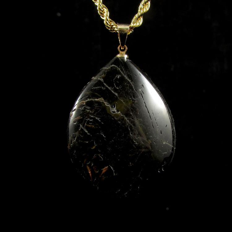 Pingente Turmalina Negra Pedra Natural - 5307
