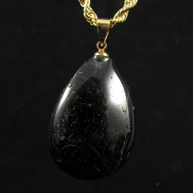 Pingente Turmalina Negra Pedra Natural - 5311
