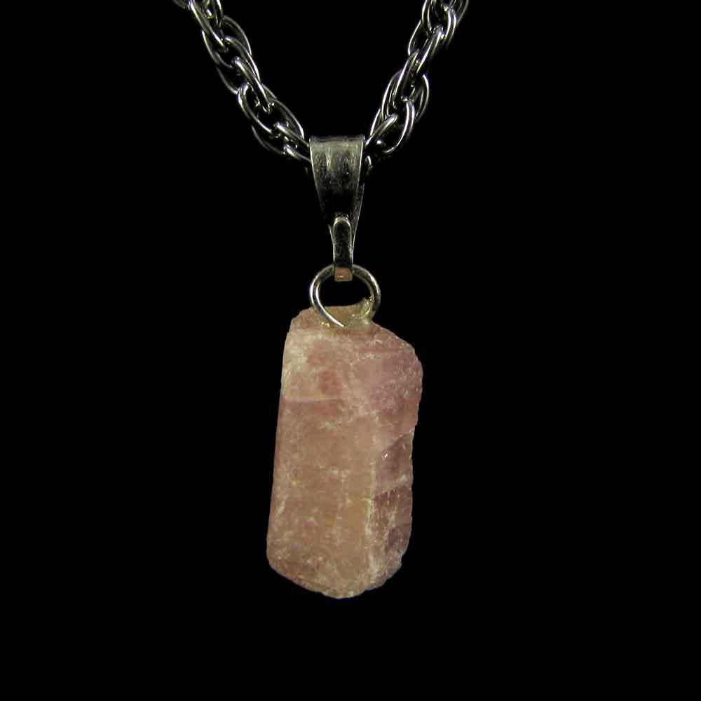 Pingente Turmalina Rosa Pedra Natural