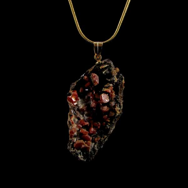 Pingente Vanadinita Pedra Natural Bruta - 6989