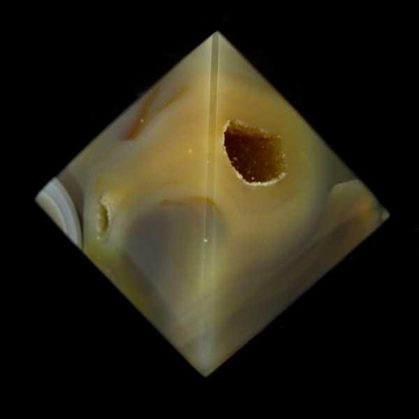 Pirâmide de Ágata Pedra Natural - 6991