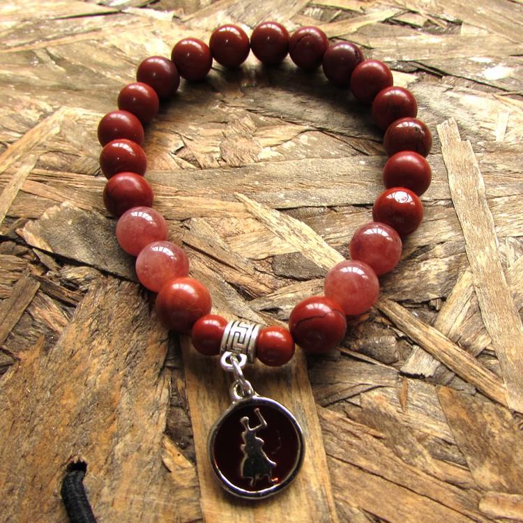 Pulseira Orixá Xangô - Pedra Natural - Justiça - 5505