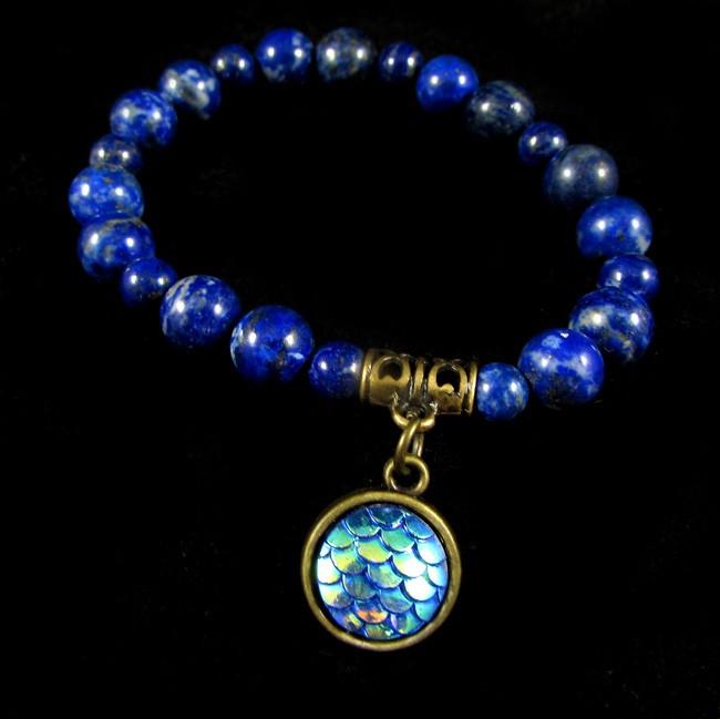 Pulseira  Pedra Natural Lápis Lazuli