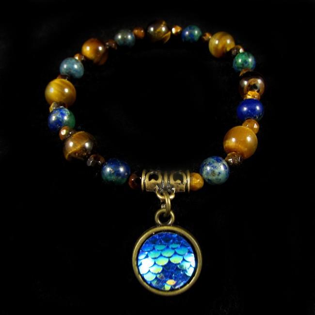Pulseiras  Pedras Naturais Lápis Lazuli e Olho de Tigre