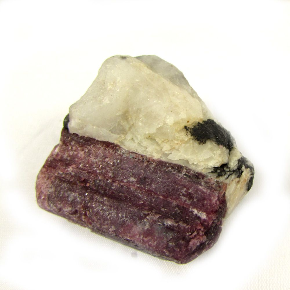 Quartzo Cristal com Turmalina Negra Pedra Natural