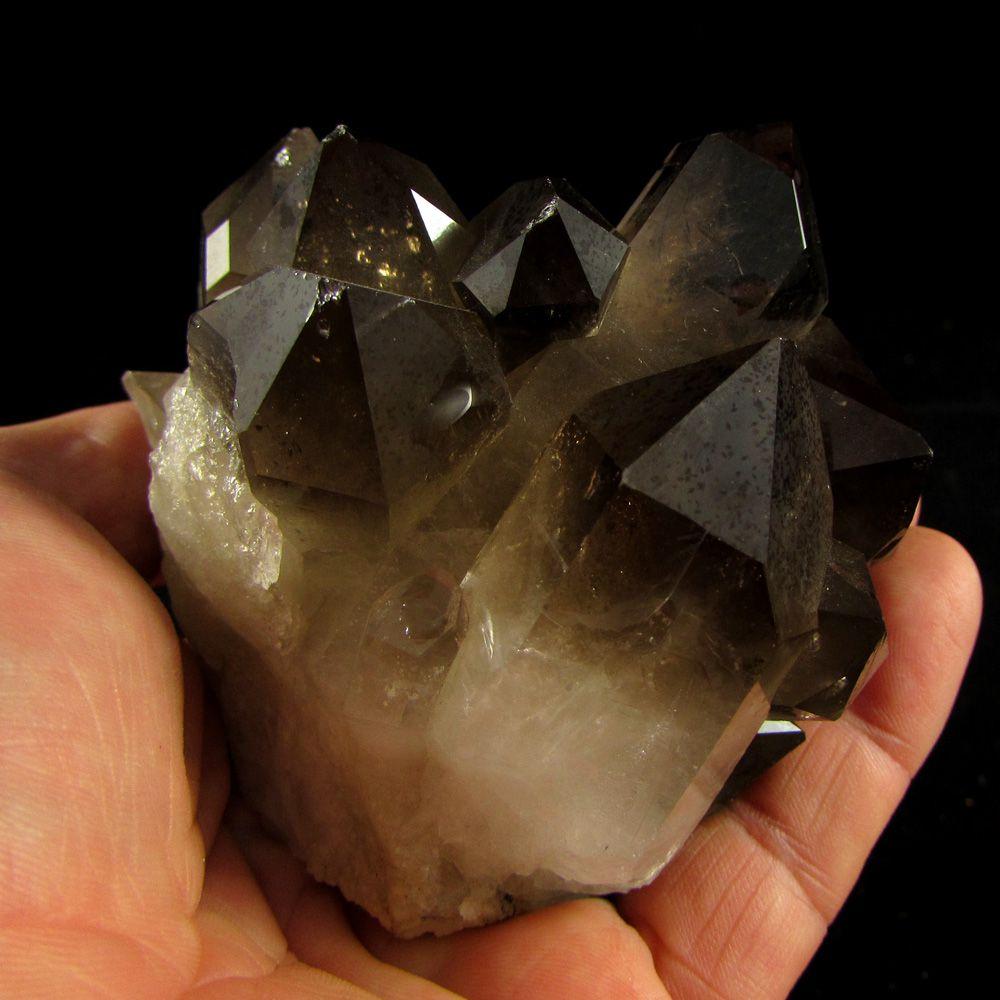 Quartzo Fumê Drusa Cristal Pedra Natural - Frete Grátis (4845)