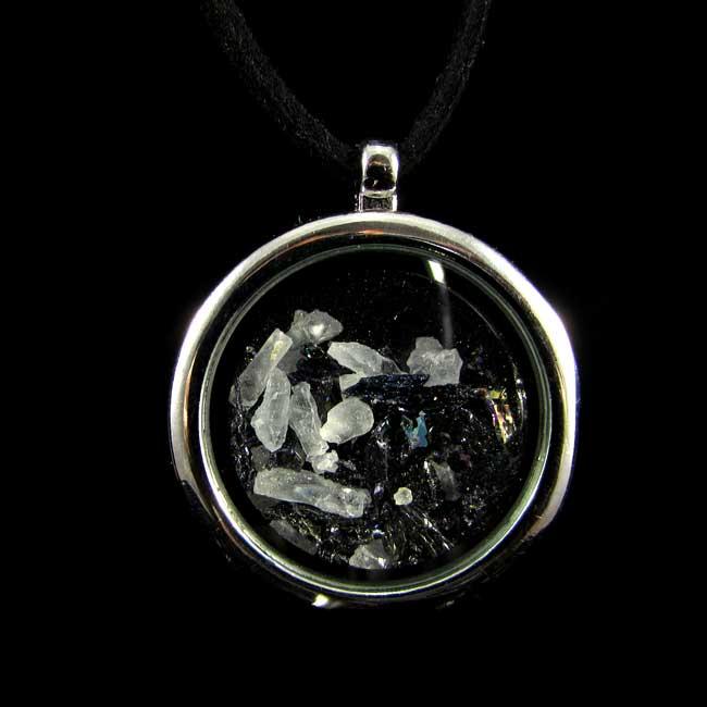 Relicário com Silício Silex e Selenita Pedra Natural- 6825