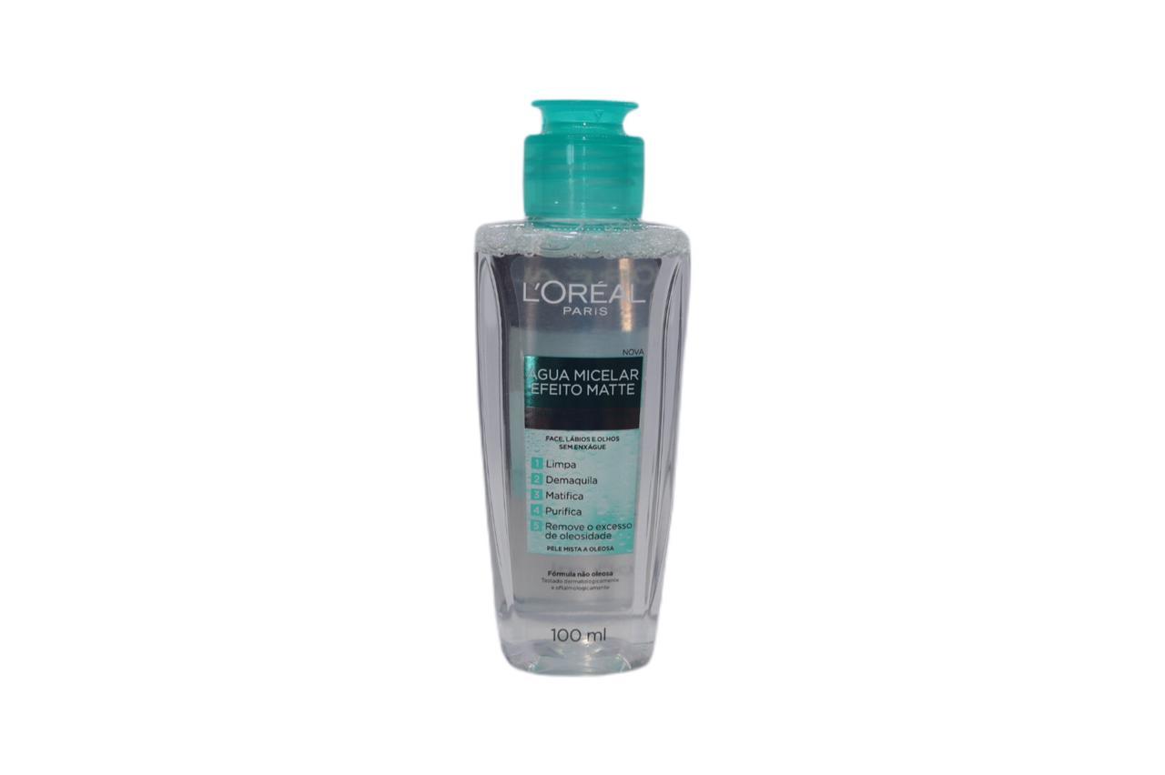 Água micelar efeito matte l'oréal paris 100 ml
