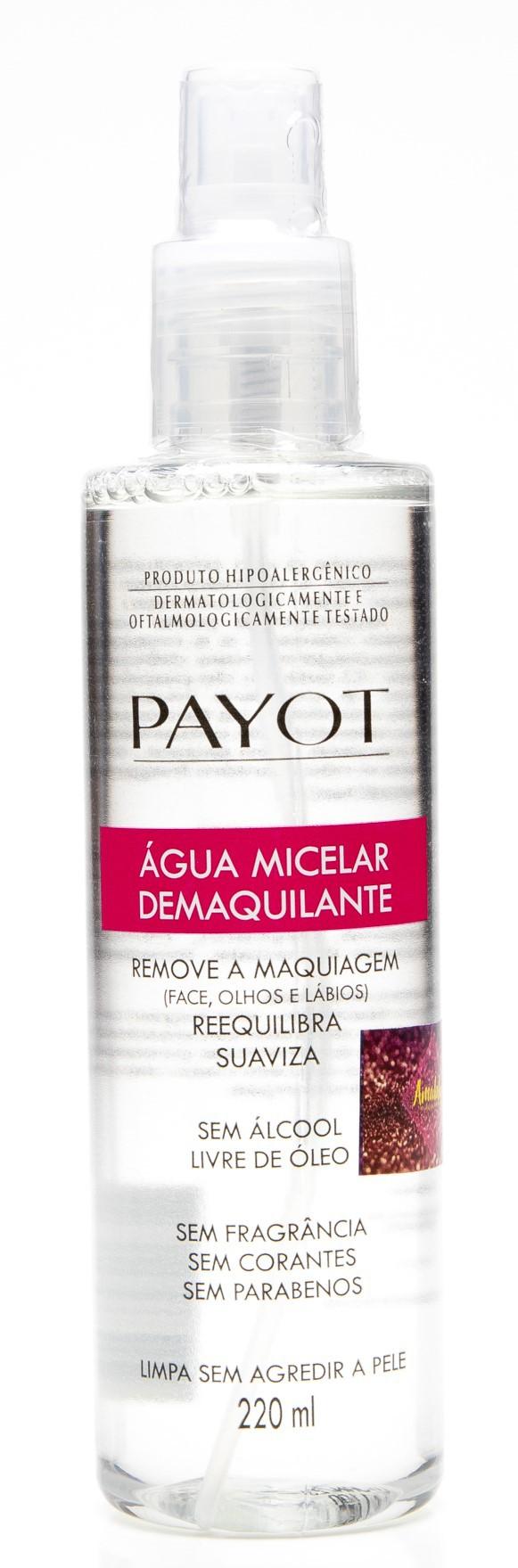 Água micelar demaquilante payot