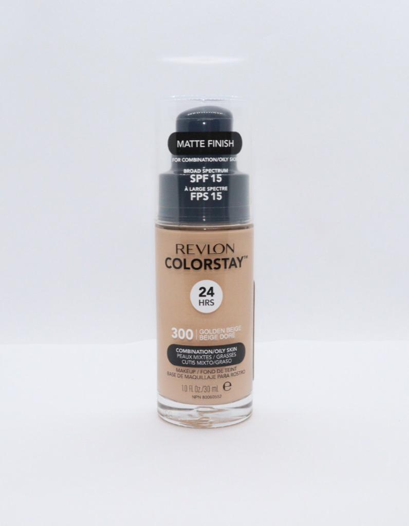 Base liquida colorstay para peles mistas golden beige 300 revlon