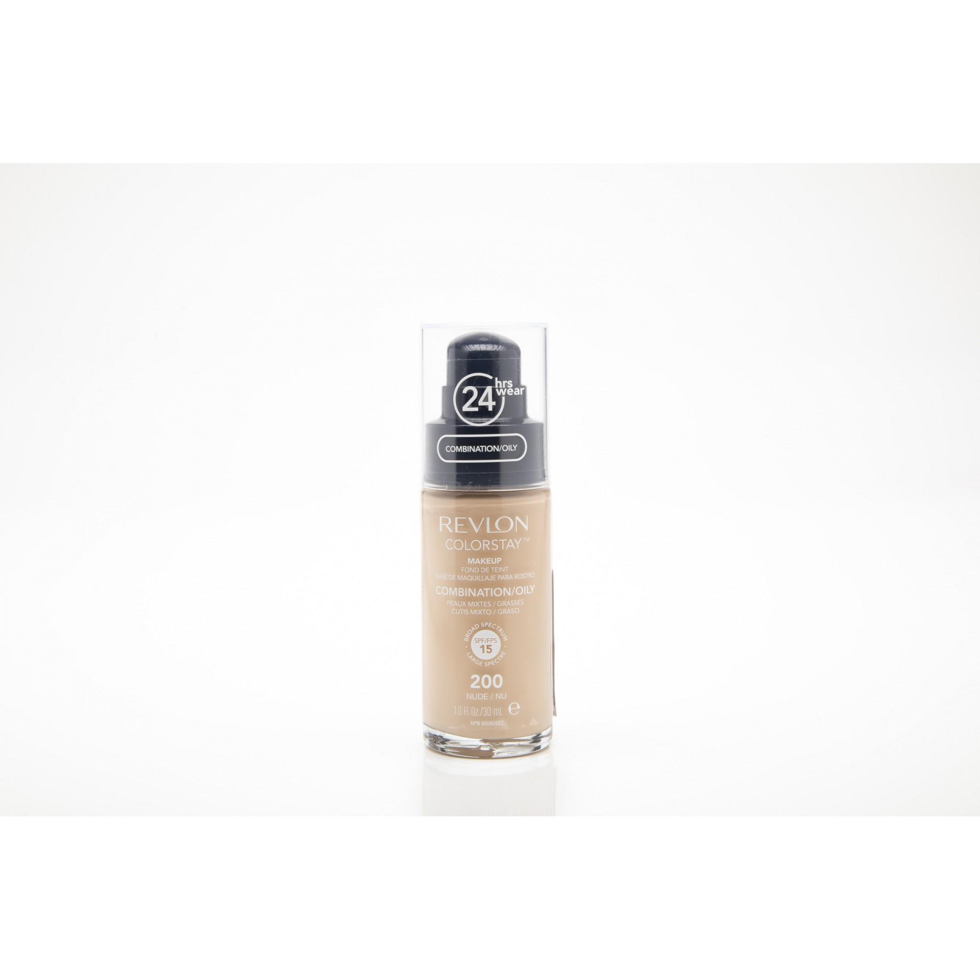 Base liquida colorstay para peles oleosas nude 200 Revlon