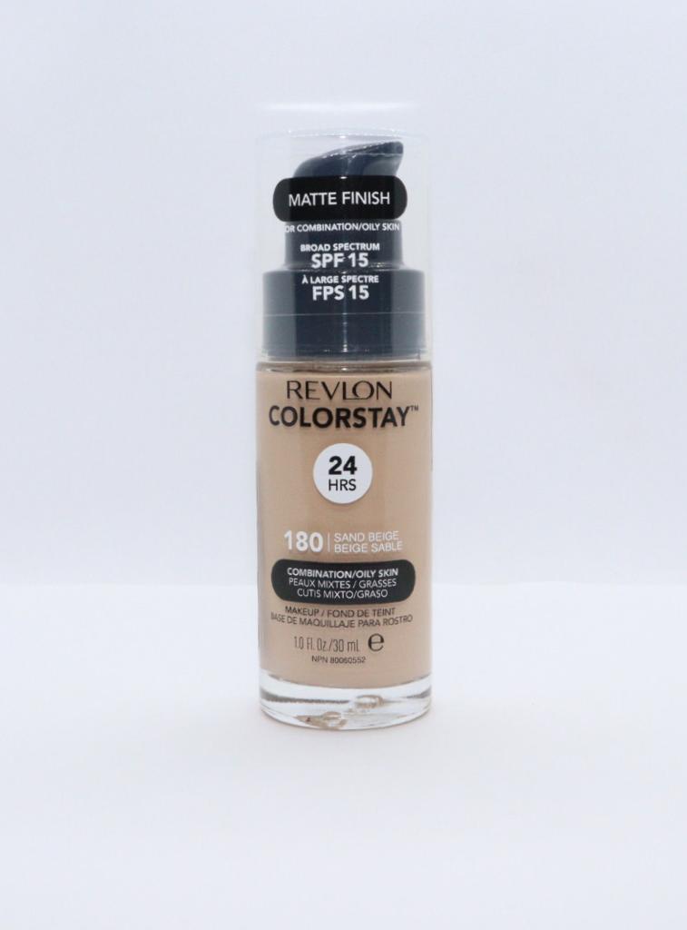 Base liquida colorstay para peles mistas sand beige revlon 180