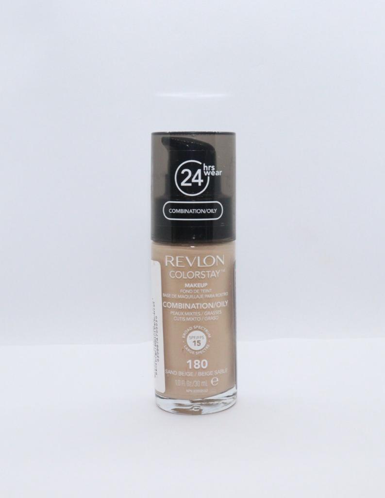 Base liquida colorstay para peles oleosas sand beige revlon 180 preta
