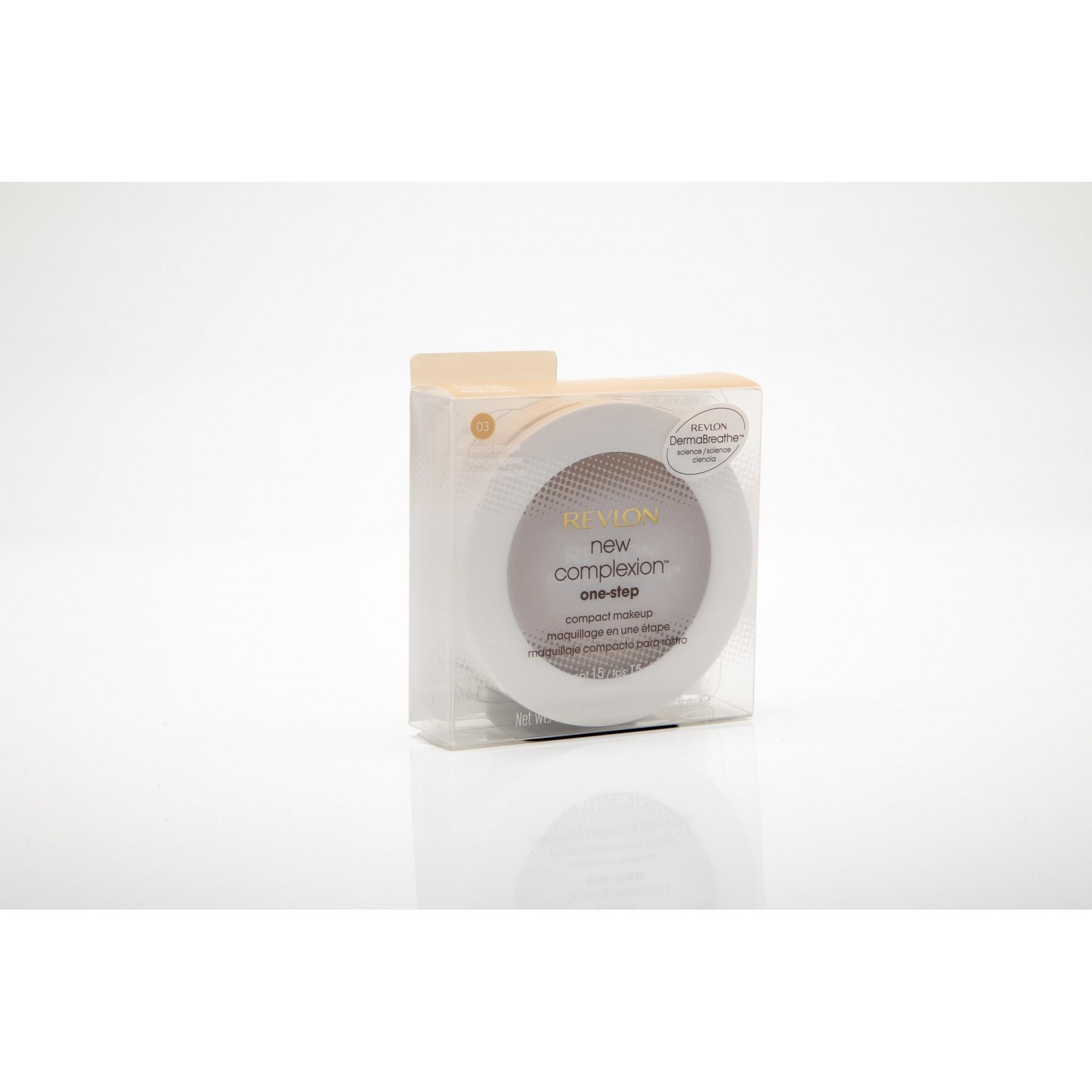Revlon new complexion one-step compact pó e base 2 em 1 03 sand beige