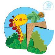 Quebra cabeça baby - girafinha