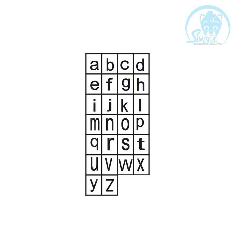 Carimbo Alf. Letras de Forma Minúscula