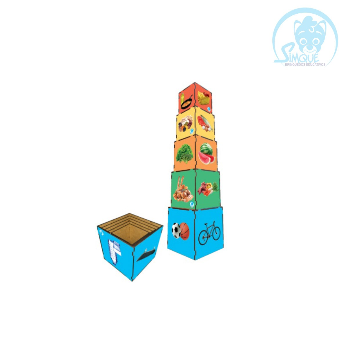 Cubo de Encaixe - Nova Pirâmide Alimentar