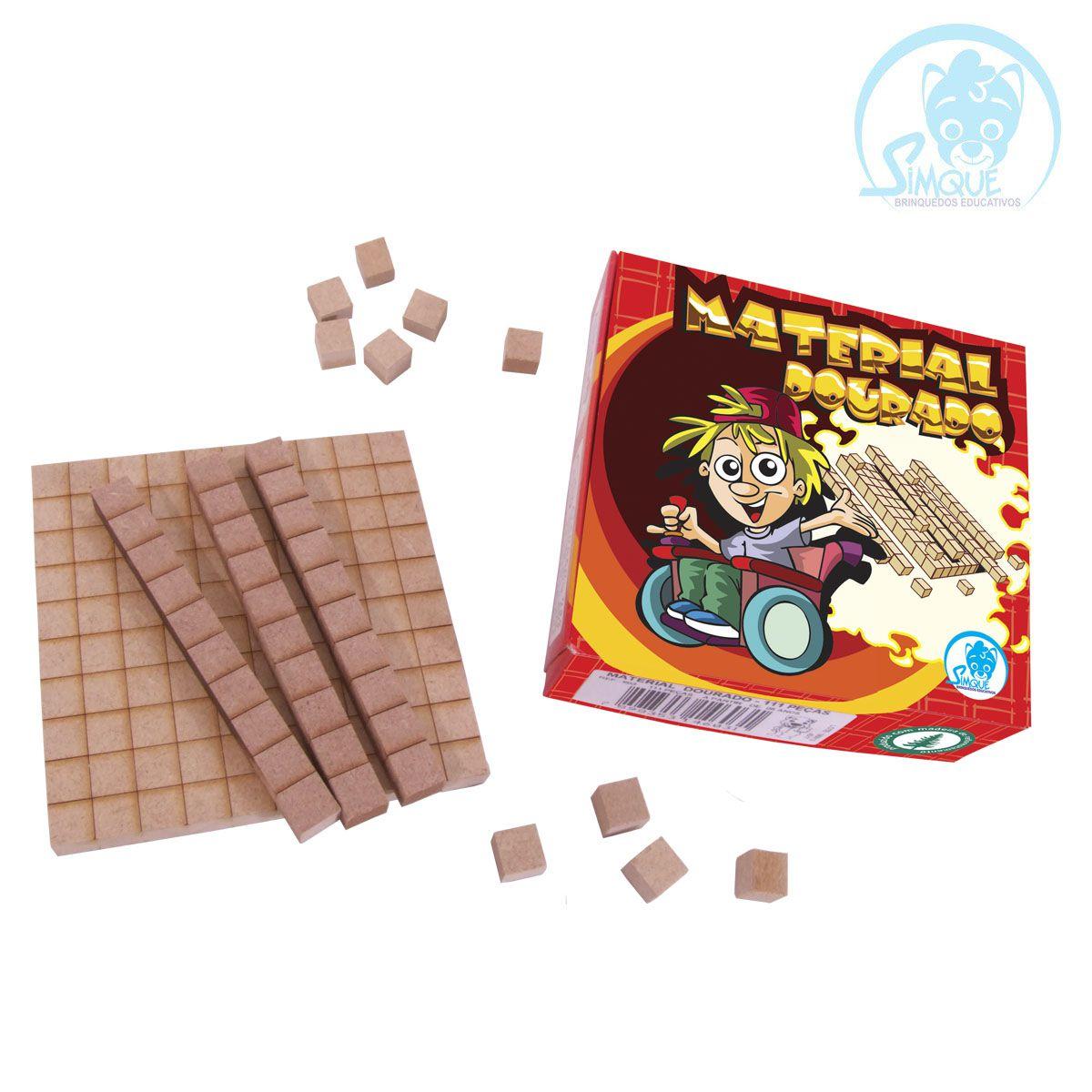 Material Dourado 111 peças - Caixa cartonada