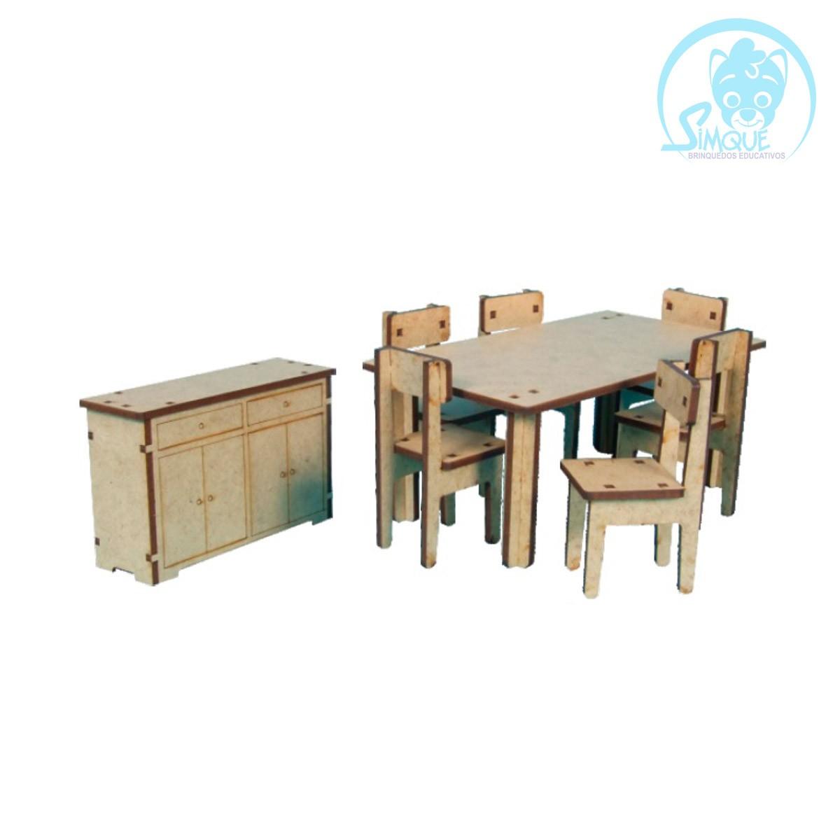 Mini Mobília Sala de Jantar